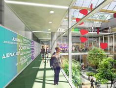 BC Children's and BC Women's Redevelopment Project's architectual concept of the atrium for the proposed Acute Care Centre.