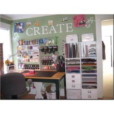 idea to incorporate my table into the scrapbooking space