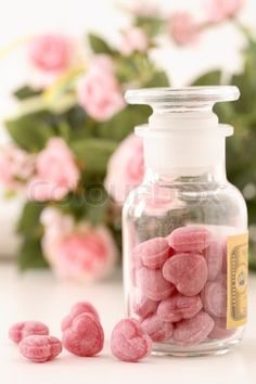 Rose Scented Bath Fizz Hearts
