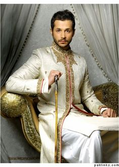 Wowwwww..... groom sherwani, wedding dressses, indian grooms wear, design men, groom outfit, cream sherwani, fashion designers, groom wear, desi cloth