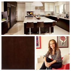 Giada De Laurentiis gets inspired for Everyday Italian cooking in her kitchen. To copy the look use our Calibra II door style in Espresso!