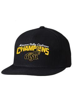 Wichita State (WSU) Shockers Hat - Black WSU 2014 MO Valley Conference Champions Mens  Hat http://www.rallyhouse.com/shop/wichita-state-shockers-8090154 $27.99