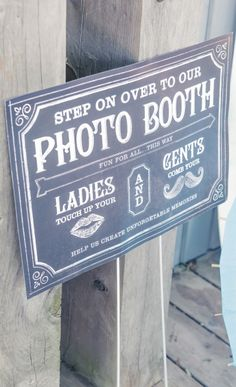 Vintage Photo Booth Sign