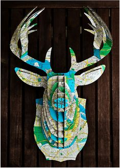 animal-friendly and recyclable cardboard trophies from Virginia based Cardboard Safari. Fabulous!