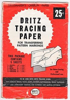 .....Tracing Paper..remember this.....