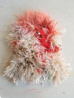 white, cream red fiber