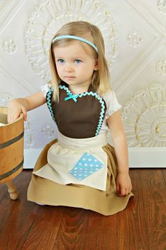 CINDERELLA Work Apron for kids cute girls dress up costume apron on Etsy, $23.00