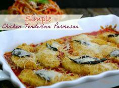 dinner, tenderloin parmesan, nobl pig, chicken parmesan, simpl chicken, food, eat, chicken tenderloins recipes, chicken tenderloin recipes