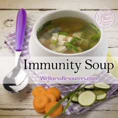 Enjoy a warm bowl of this delicious, immunity boosting soup! www.wellnessresources.com