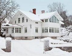 white house on white