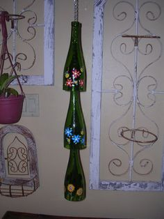 Cute crafting idea for those old wine bottles
