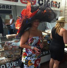 What a hat! - Worn at Churchill Downs in Louisville, KY for the Kentucky Derby