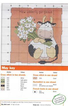 vaca con ramo de flores