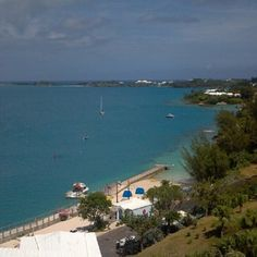 Blue water in Bermuda. I can't remember seeing water this blue before. At Tucker's Point Resort & Spa.