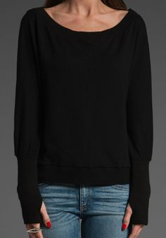 Sweater with thumb holes revolveclothing.com