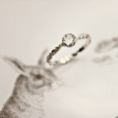 """I never used to care much for diamonds - or """"small"""" rings - but this is beautiful"""
