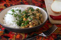 Creamy mushroom and chickpea curry (vegan)
