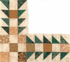 Sawtooth Square Quilt Border Pattern pdf
