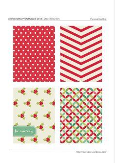 Printable -- Christmas Journal Cards