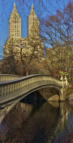 Bow Bridge in Central Park, New York