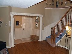 Round Interior Columns - Entranceway