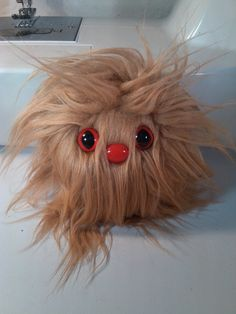 Furry Monster Plush - 4 Light Brown Coodle. $10.00, via Etsy.