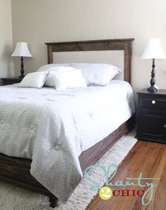 diy platform bed and headboard
