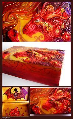 Fire Dragon's Treasure Chest by TrollGirl.deviantart.com on @deviantART
