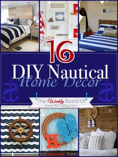 DIY Nautical Home Decor {The Weekly Round Up}