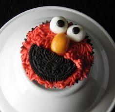 Elmo Cupcake