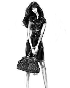 A fashion sketch of me...love it!