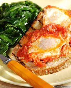 Poached Eggs in Tomato Sauce - Martha Stewart Recipes