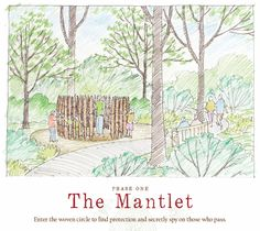 The Mantlet will be part of Phase One in the new Lost Hollow: The Kimbrell Children's Garden, at Daniel Stowe Botanical Garden