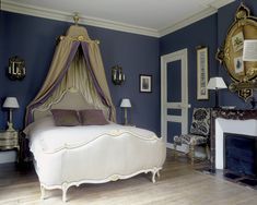 blue French bedroom ~ Jean-Louis Deniot design