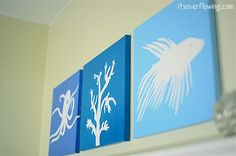 """DIY Personalized Canvas Art Tutorial    i need something to go on our newly painted living room wall and cant find """"the right thing""""... maybe i'll do this! :)"""
