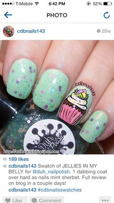 Birthday/celebration nails on Pinterest
