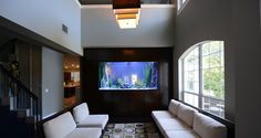 Nice aquarium by Fish gallery in a Private Residence