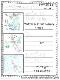 """Mrs. Wills Kindergarten: """"How To"""" Writing!"""