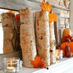 5 wonderful fall and Halloween inspired mantles. Each one is a little bit different to hopefully inspire you to decorate your mantles as we prepare for this beautiful season of color. And if you don't have a mantle you can still use the decorating ideas in other areas of your