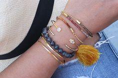Ombre' stone bracelet.