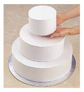 Stacking and decorating tiered cakes.