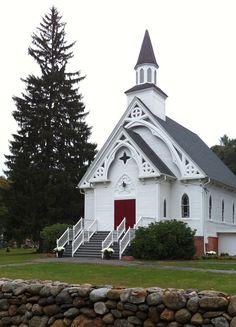 red doors, white flowers, memori, god, beauti church, chapel, white church, countri church, old country churches