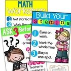 This resource will help you kick off guided math in your classroom!  Print as posters for reference all year!    For a detailed blog post about how...