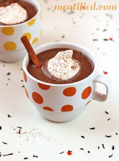 Chai Spiced Paleo Hot Chocolate chai spice, chocolates, hot chocolate, paleo hot, luxuri holiday, real foods, smoothie recipes, 35 healthi, holiday drink