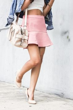 Joselin from Le Pretty Stellar in the Nude Minx Pumps (http://www.nastygal.com/product/minx-pump-nude) #ShoeCult