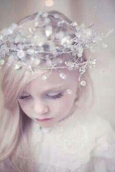 Flowergirl for Winter Wedding princess, wedding flower girls, winter wedding flowers, crown, flower girl hair, girl style, girls hair accessories, winter weddings, fairytale weddings