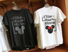 OWN THEM. Perfect cheesiness for this Disney couple :) disney stuff, couple shirts, disney shirts, disney boyfriend, disney couples, magic kingdom, t shirts, coupl shirt, boyfriends