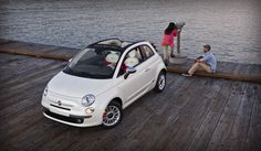 Take a break with Fiat 500 and enjoy the scene.