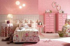 Cuarto de niña rosa