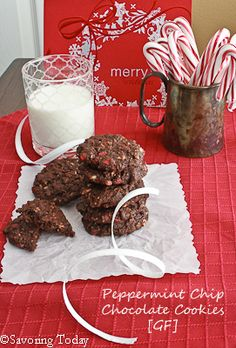 Peppermint Chip Chocolate Cookies [GF] - Savoring Today